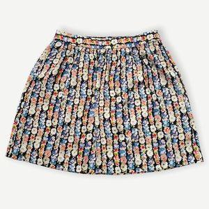 J. Crew Mercantile Printed Floral Mini Skirt 4 NWT